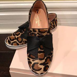 fdafa53ad594 kate spade Shoes - Kate Spade Leopard Slip-On Flats With Leather Bow
